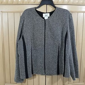 Donna Ricco Zip Up Blazer/Jacket, plus size